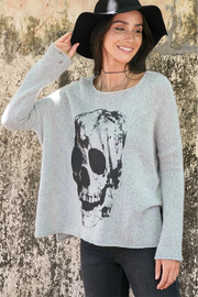 Wooden Ships Printed Skull Pullover - Side cropped