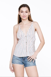 En Creme Printed Sleeve-Less Top - Product Mini Image