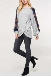 Promesa Printed Sleeve Top - Front full body
