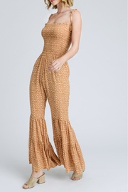 storia Printed Smocked Jumpsuit - Side cropped