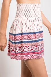 Others Follow  Printed Smocked Mini - Back cropped