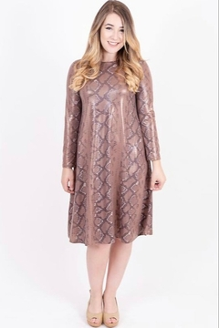 Kaleidoscope Modest Wear Printed Snake Skin A-line Dress - Product List Image