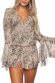 Buddy Love Printed Spencer Romper - Front cropped