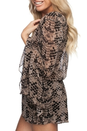 Buddy Love Printed Spencer Romper - Front full body