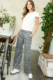 Thml Printed Straight Pants - Front cropped