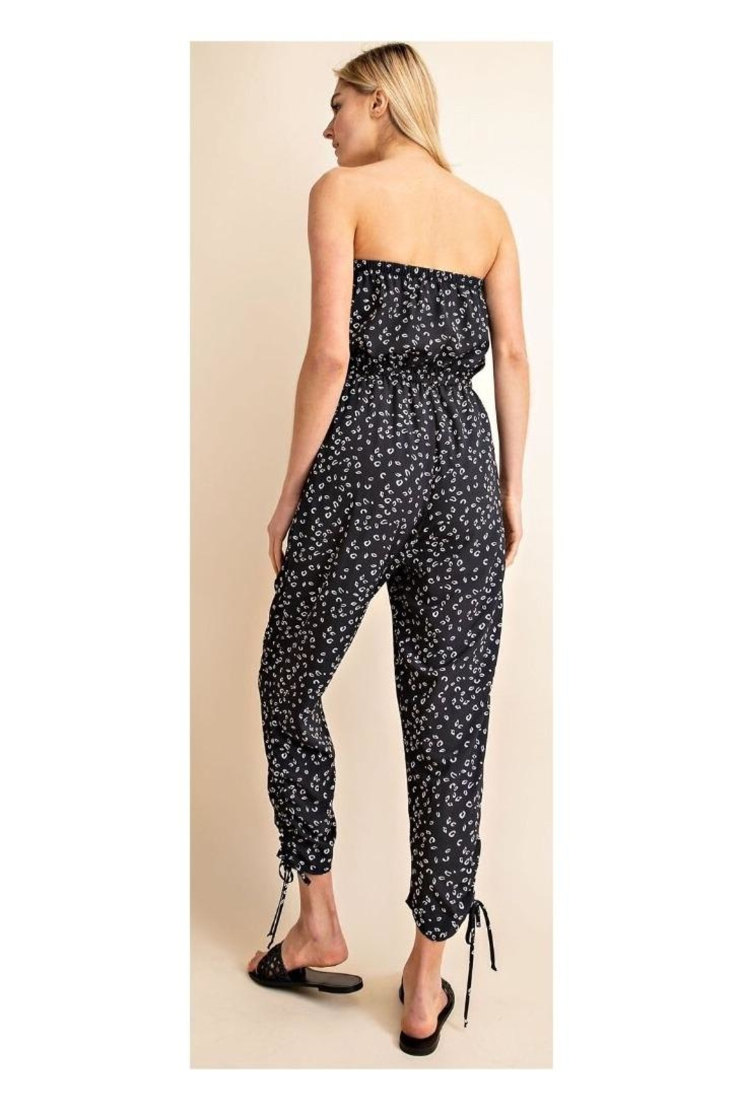 Gilli Printed Strapless Jumpsuit - Side Cropped Image