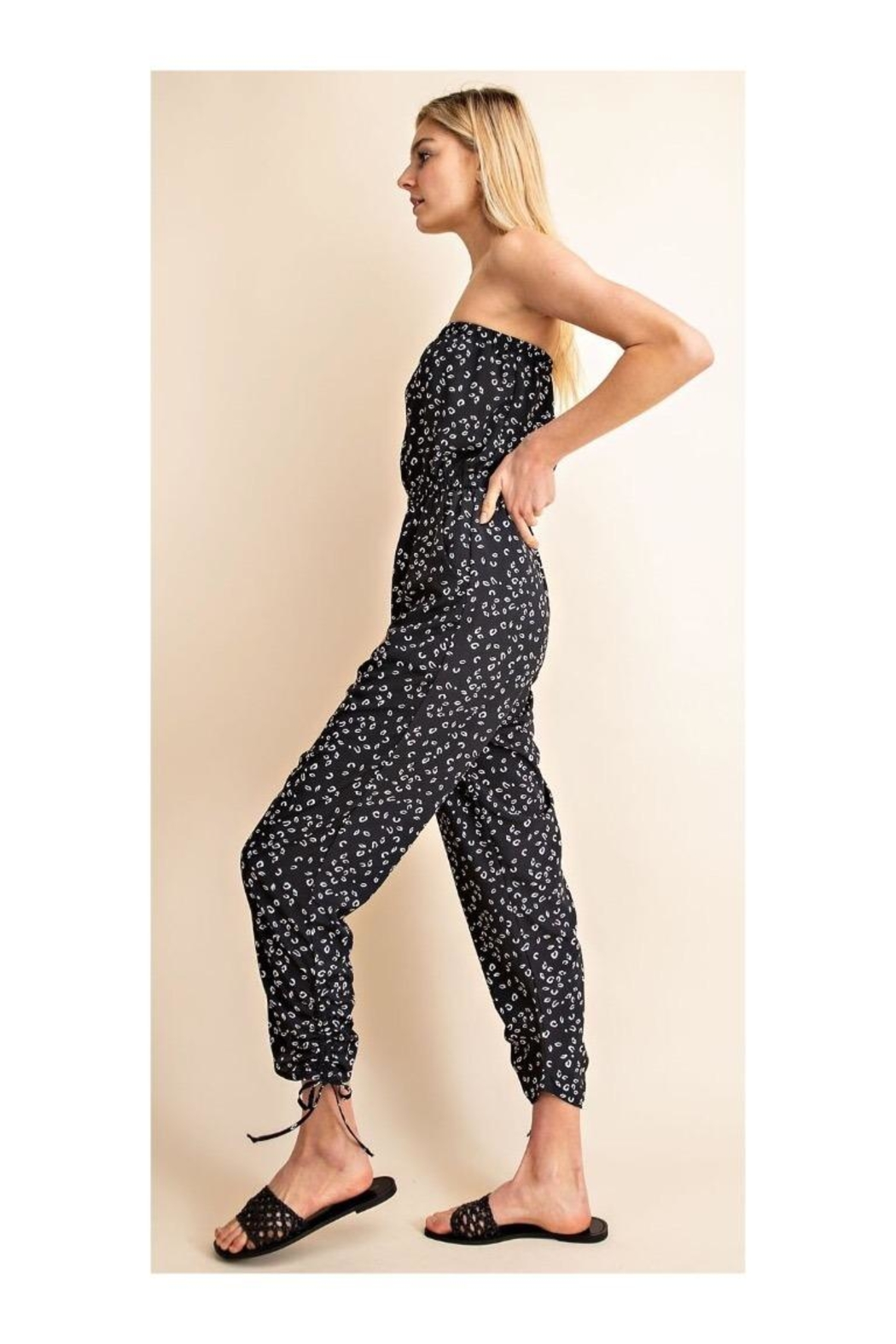 Gilli Printed Strapless Jumpsuit - Front Full Image