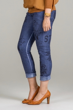 Bella Amore Printed Stretch Pant - Product List Image