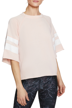 Betsey Johnson Printed Stripe Cutoff Sweatshirt - Product List Image