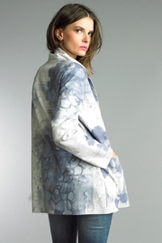 Tempo Paris Printed Suede Jacket - Front full body