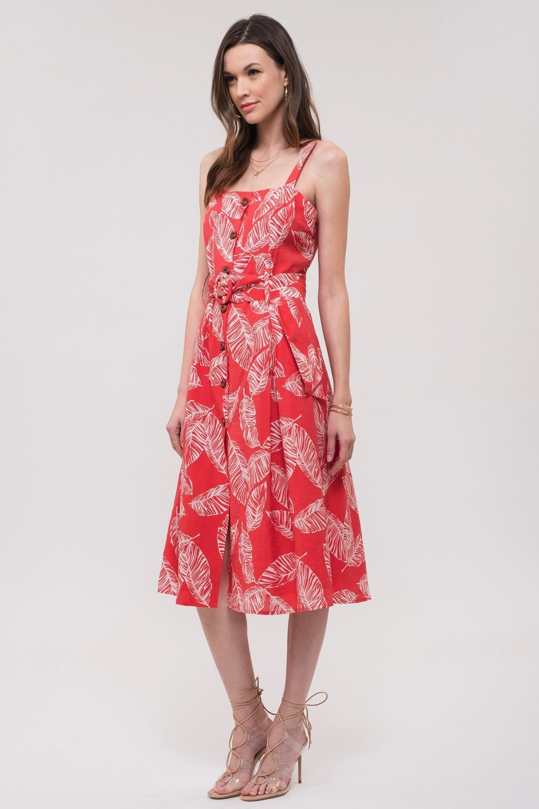 J.O.A. Printed Sun Dress - Main Image