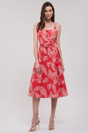 J.O.A. Printed Sun Dress - Front full body