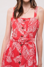 J.O.A. Printed Sun Dress - Back cropped