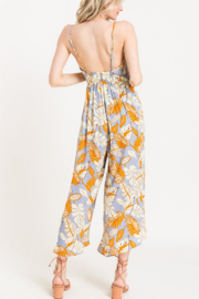 Lush  Printed Surplice Jumpsuit - Front full body
