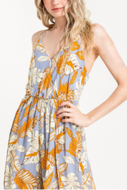 Lush  Printed Surplice Jumpsuit - Side cropped