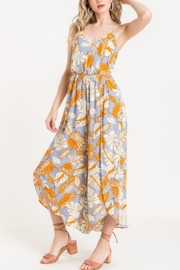 Lush  Printed Surplice Jumpsuit - Back cropped