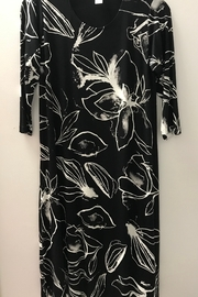 Kosher Casual Printed T-Shirt Dress Past the Knee - Front cropped