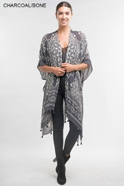 Love Stitch Printed Tassel Kaftan - Product Mini Image