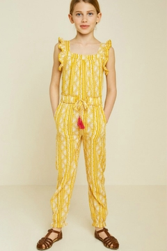Shoptiques Product: Printed Tassel Tie Jumpsuit