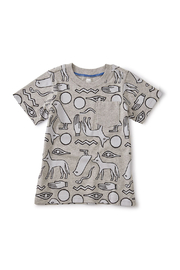 Tea Collection Printed Tee With Rib Pocket - Front cropped