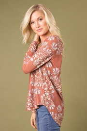 Simply Noelle Printed Thermal Top - Front full body