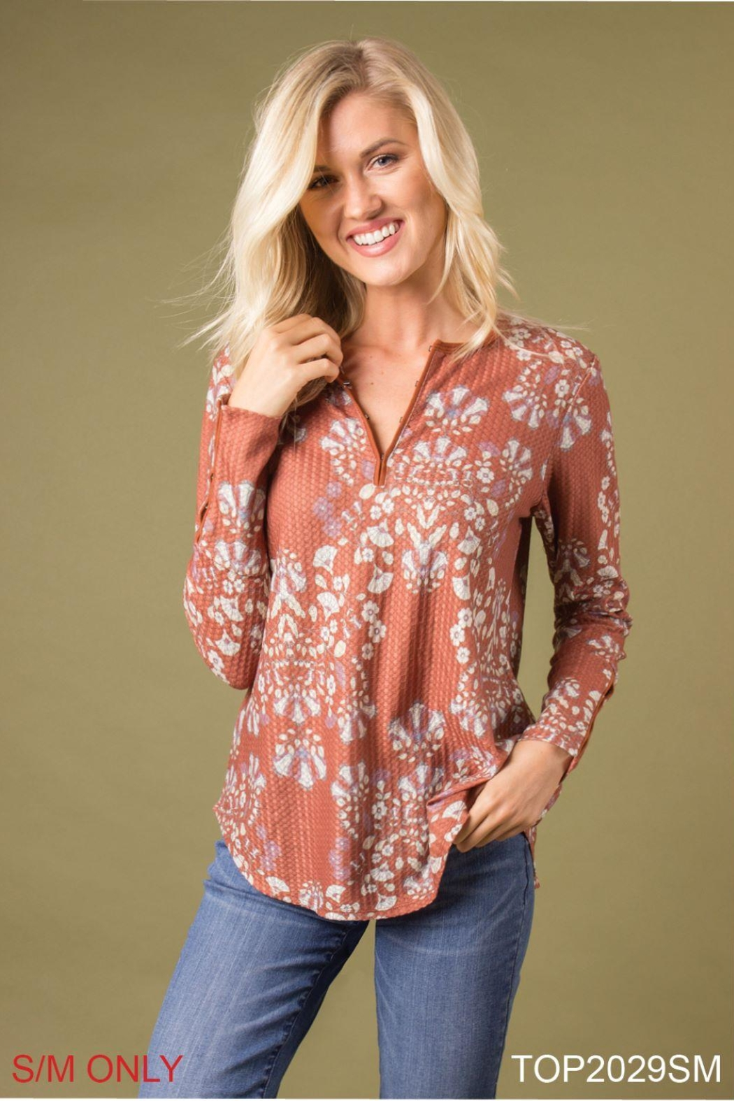 Simply Noelle Printed Thermal Top - Main Image