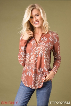 Simply Noelle Printed Thermal Top - Product List Image