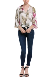 AAKAA Printed Tie Blouse - Product Mini Image
