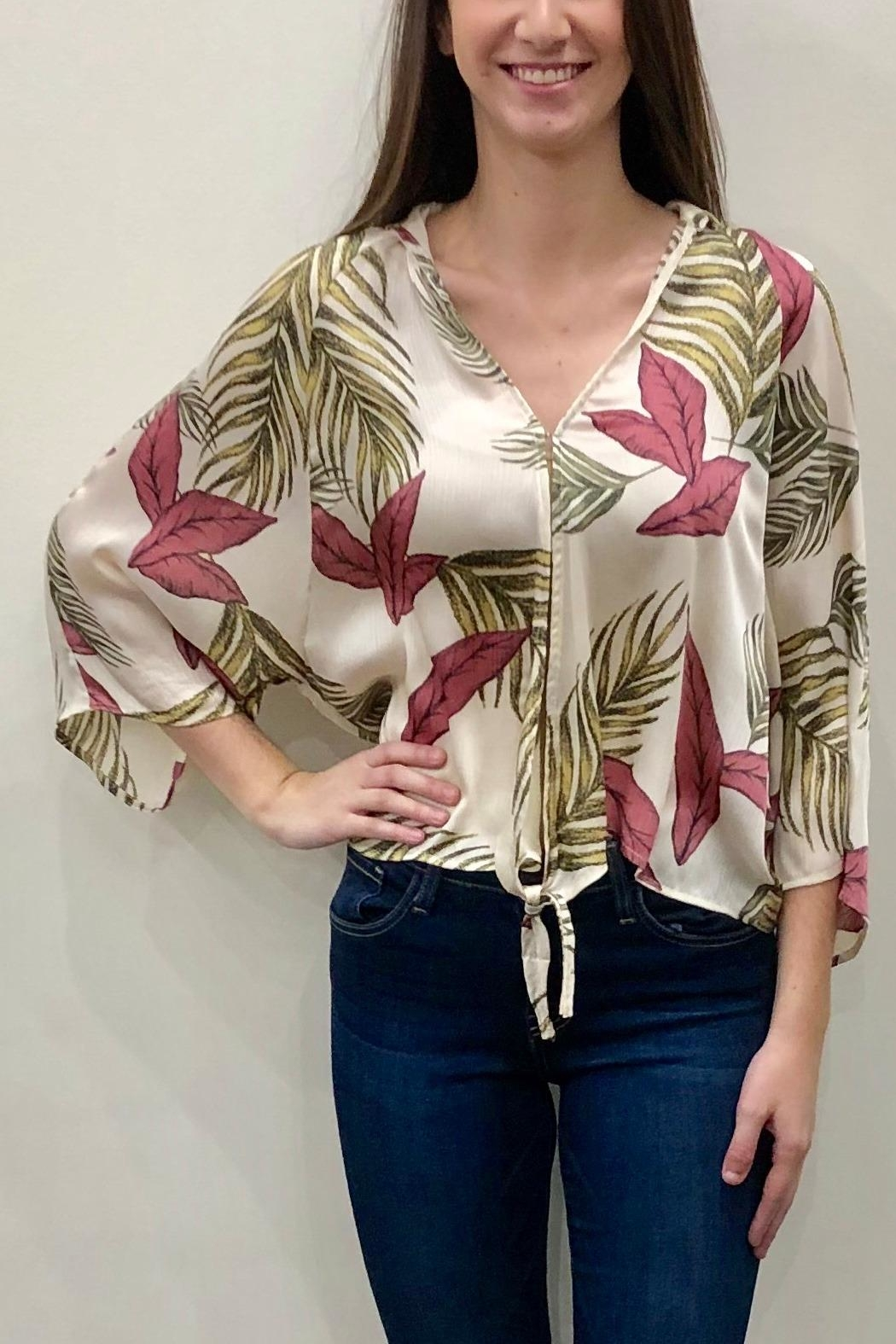 eaee0e29bef9 AAKAA Printed Tie Blouse from Ohio by Apricot Lane - Pinecrest ...