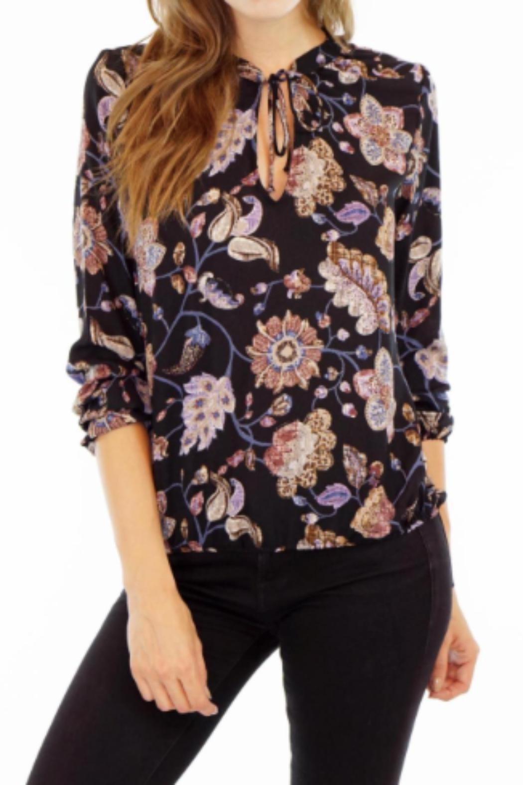 Veronica M Printed Tie Blouse - Main Image