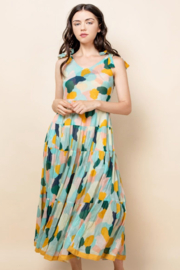 Thml Printed Tie Strap Dress - Product Mini Image