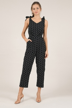 Molly Bracken Printed Tie Strap Jumpsuit - Product List Image