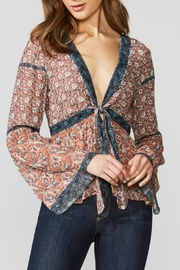 Bailey 44 Printed Tie Top - Product Mini Image