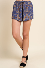 Wild Honey Printed Tie Waist Short - Product Mini Image