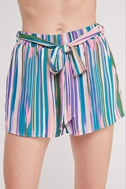 Caramela Printed Tie Waist Short - Product Mini Image