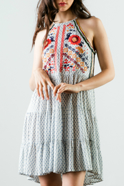 THML  Printed tiered dress with embroidery - Product Mini Image