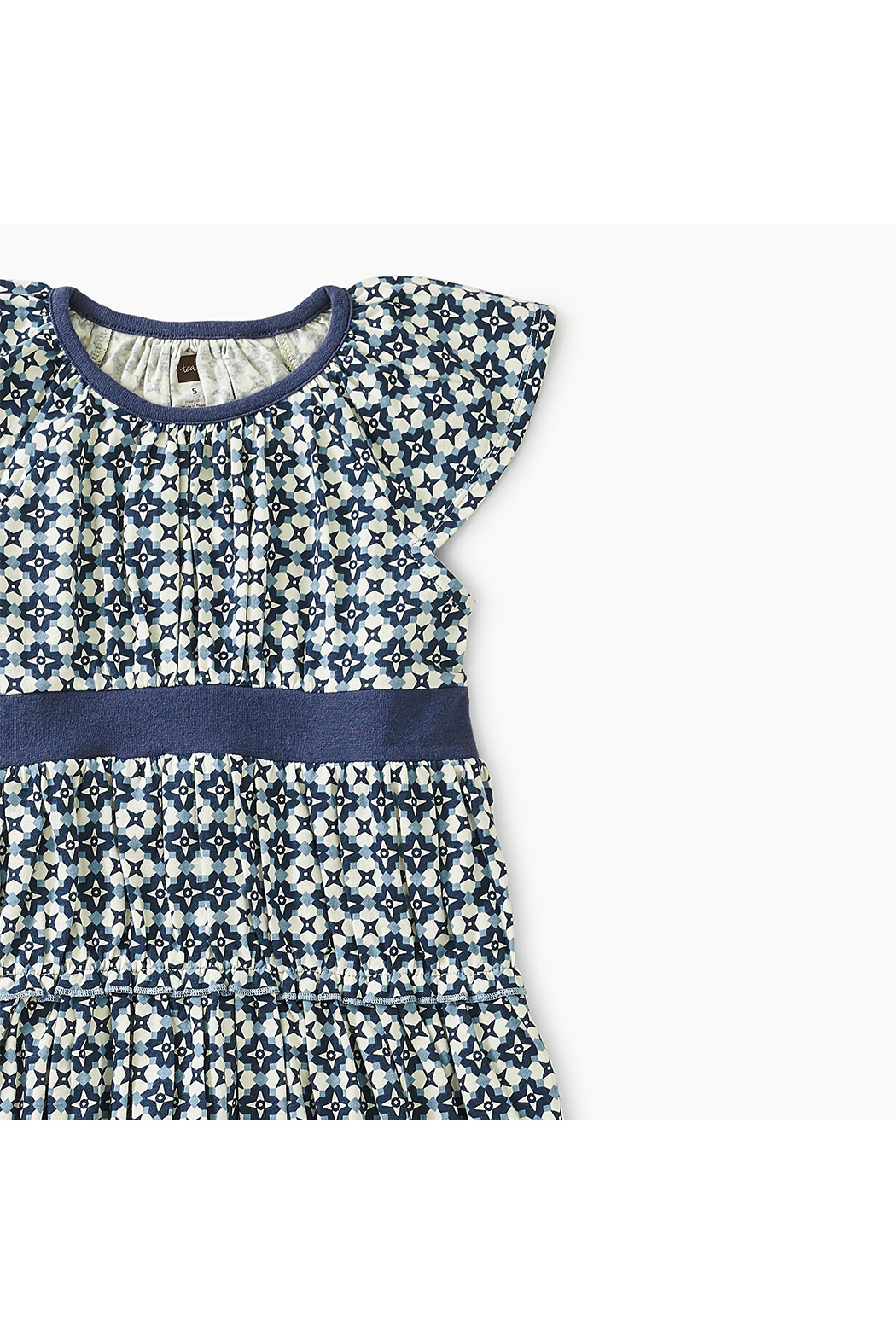Tea Collection Printed Tiered Twirl Dress - Front Full Image