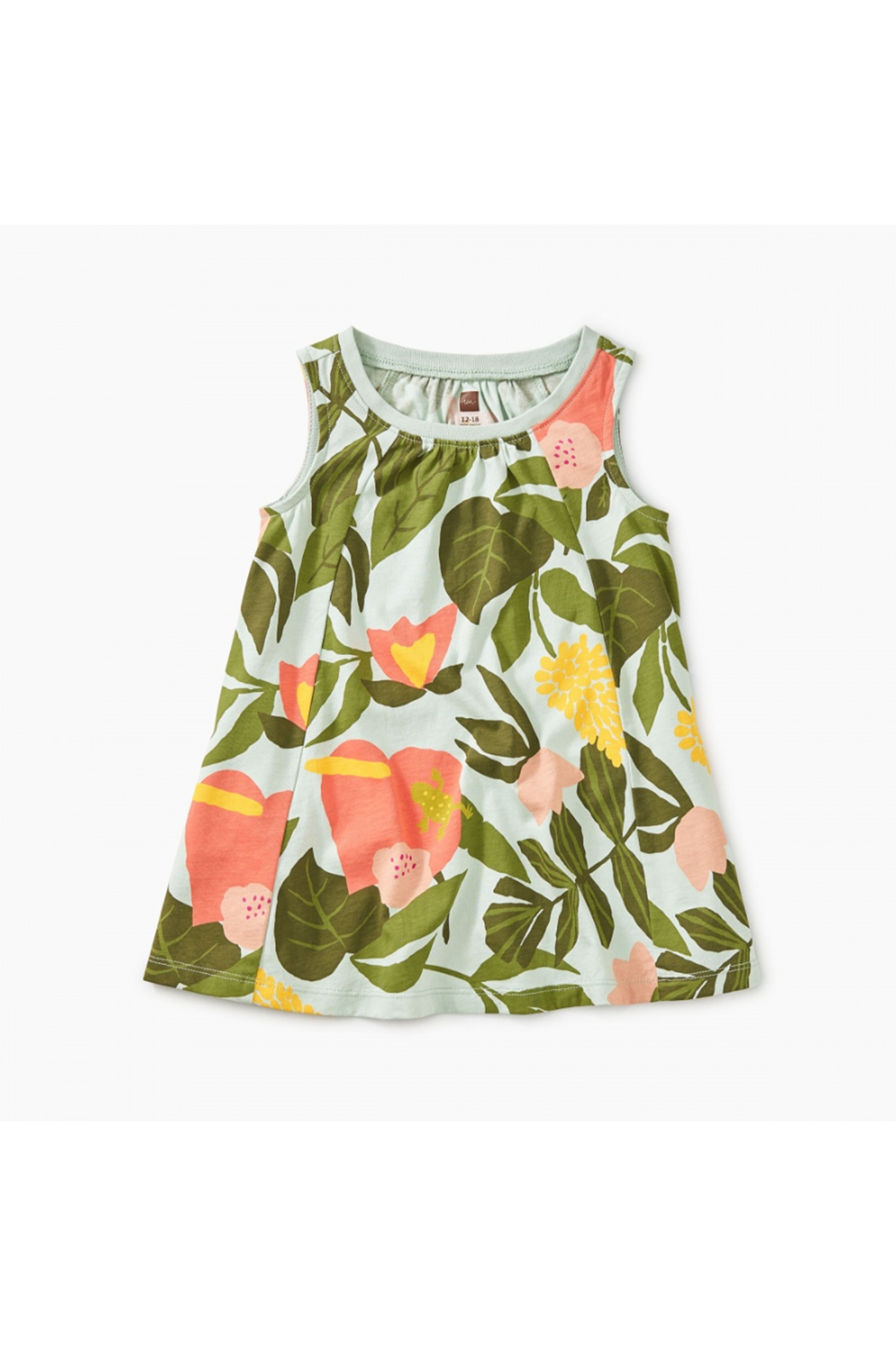 Tea Collection Printed Trapeze Baby Dress - Front Cropped Image
