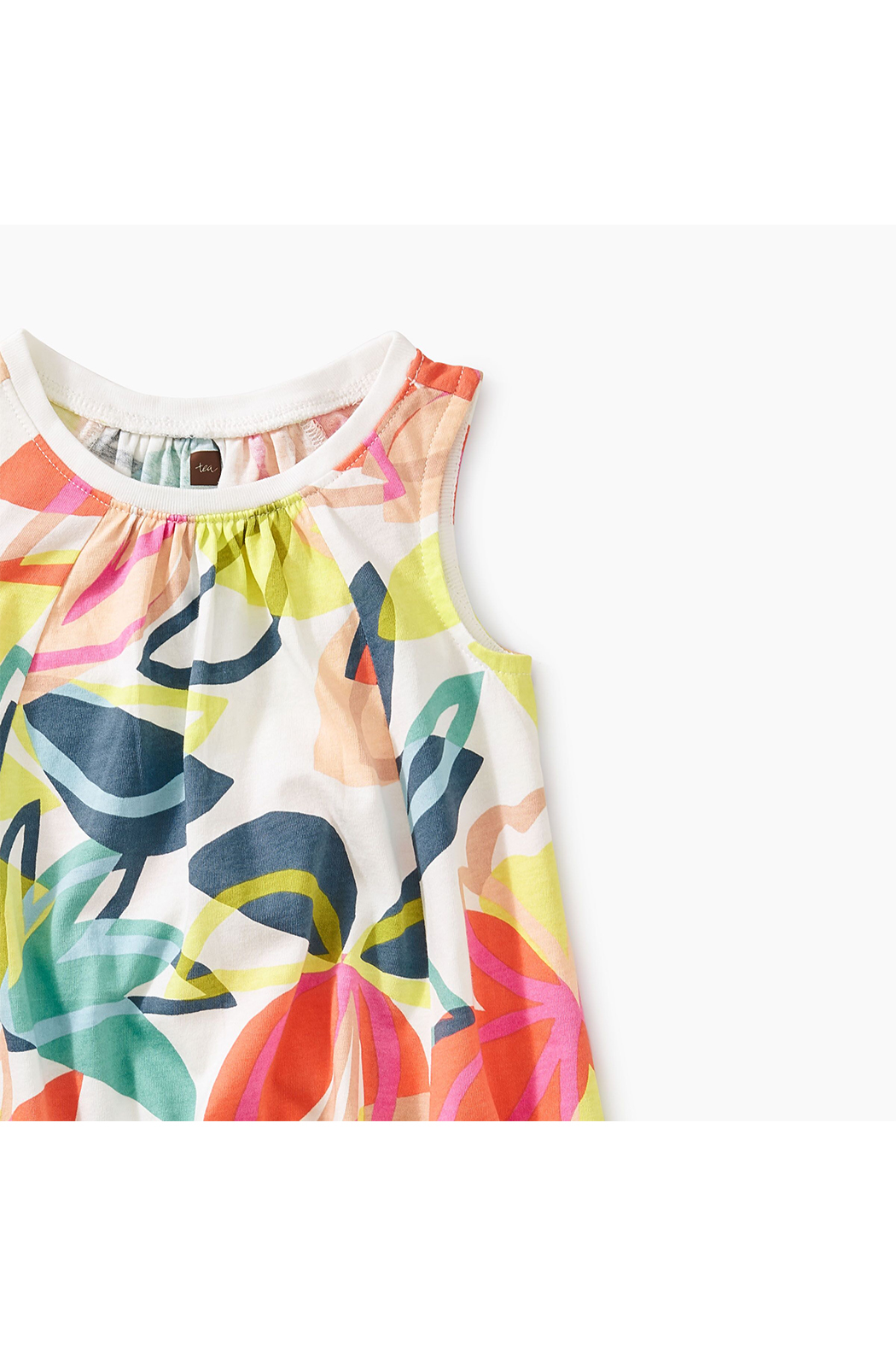 Tea Collection Printed Trapeze Baby Dress - Front Full Image