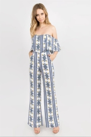Lulumari Printed Tube Jumpsuit - Product Mini Image
