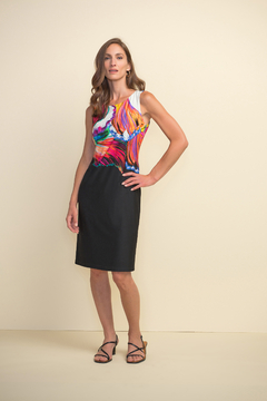 Shoptiques Product: Printed Two Tone Dress