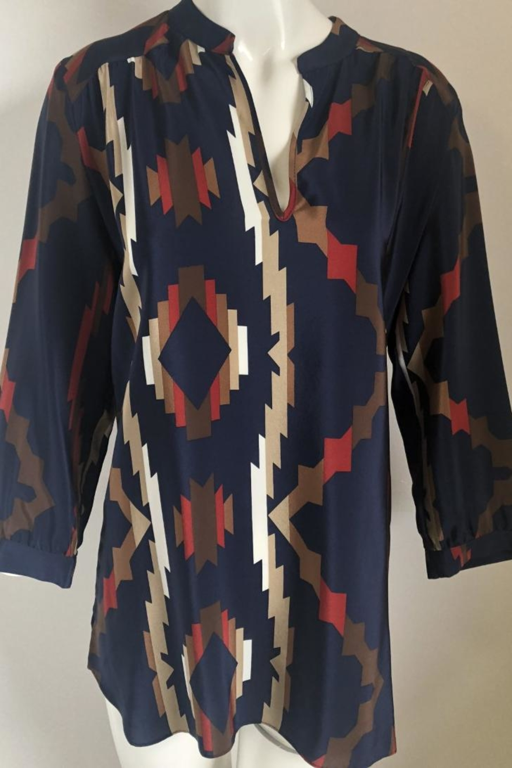 Amanda Uprichard Printed V-Neck Tunic - Main Image