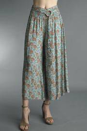 Tempo Paris  PRINTED WIDE LEG PANTS - Product Mini Image