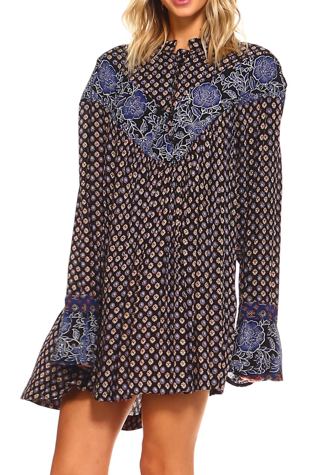 Lola P. Printed Woven Tunic - Front Full Image