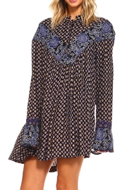Lola P. Printed Woven Tunic - Front full body