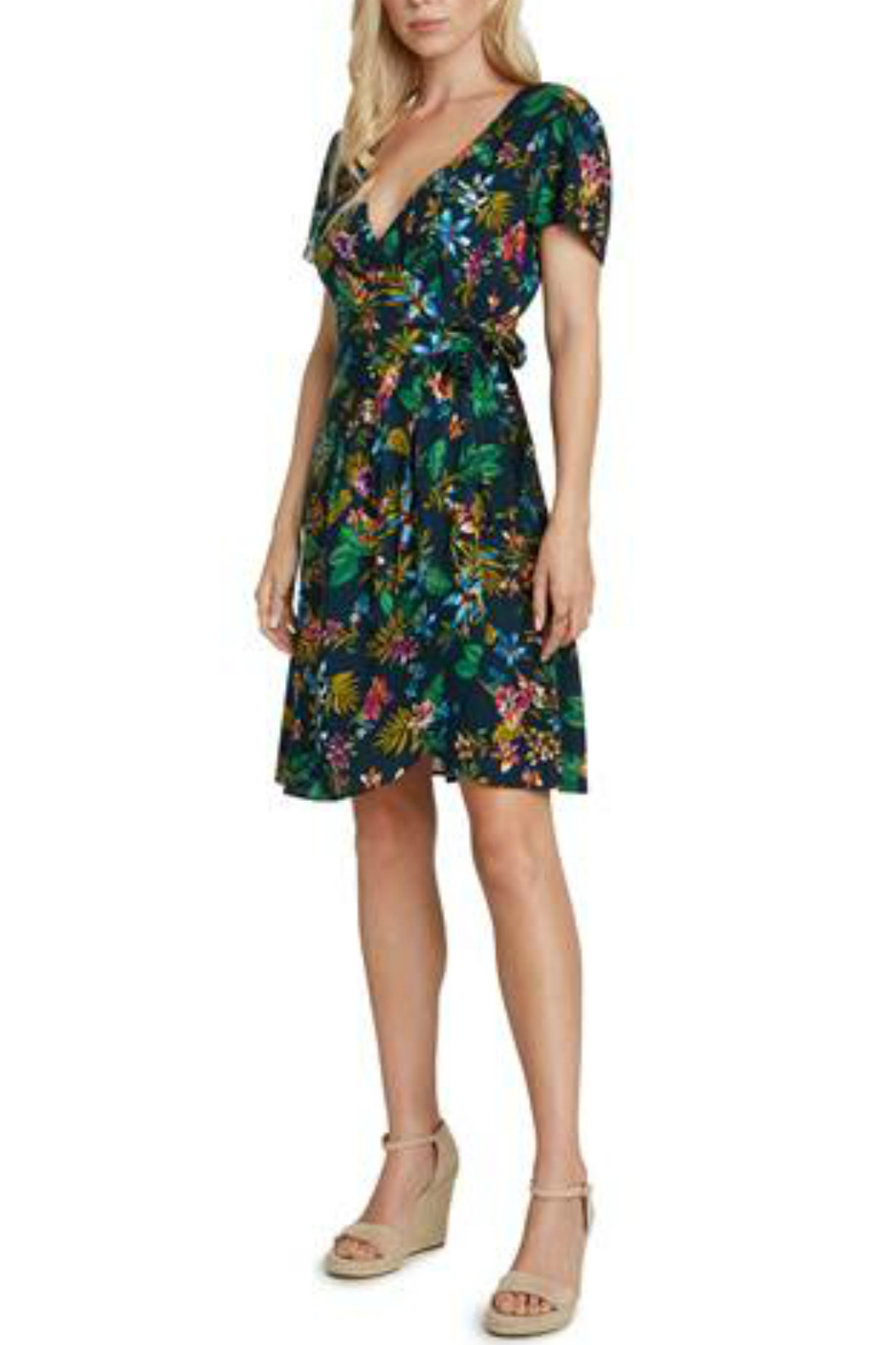 willow and clay Printed wrap dress - Main Image