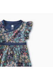 Tea Collection Printed Wrap Neck Baby Dress - Product Mini Image