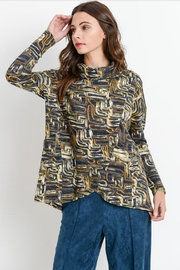 Aryeh Printed Wrap Top - Product Mini Image