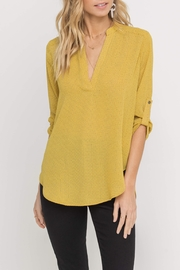 Lush  Printed Yellow Blouse - Product Mini Image