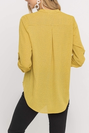 Lush  Printed Yellow Blouse - Front full body